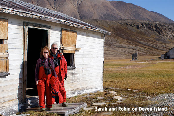 Sarah and Robin on Devon Island