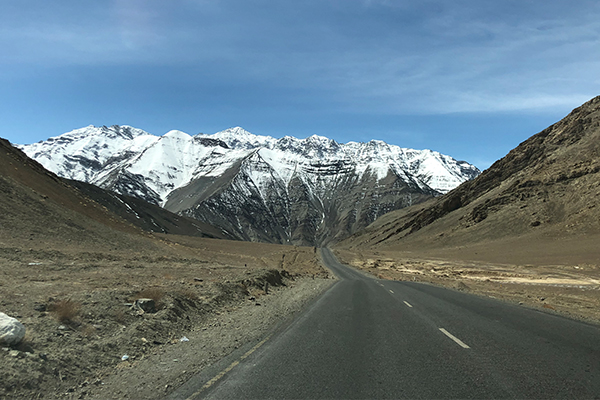 The scenery in Ladakh is stunning