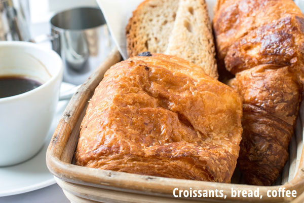 Croissants, bread, breakfast