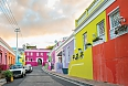 Colourful homes in the historic Bo-Kaap neighborhood in Cape Town