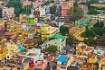 Colourful homes in Trichy