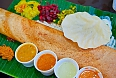 Dosa, a crispy and savoury pancake served with sambar