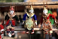 Traditional string puppet dolls