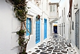 Traditional streets of Mykonos