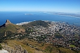 View of Capetown and Table Bay from Table Mountain