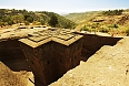 Top view of Church of St. George, Lalibela