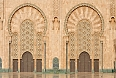 Detail of Hassan II Mosque in Casablanca