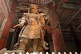 Koumokuten demon wooden giant statue in Todaiji temple, Nara