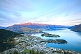 Queenstown, New Zealand sunset