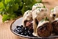 Swedish meatballs with blueberry jam