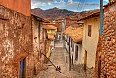 Typical old street in central Cusco