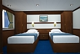 Your Cabin: Main deck, twin beds, window
