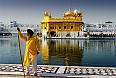 Guard at the Golden Temple in Amritsar