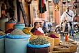 Moroccan herbs alley in Marrakesh's Medina