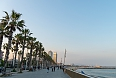 Barcelona beach boardwalk (Photo credit: Chris Koerner)