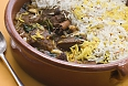 Pot of lamb biryani