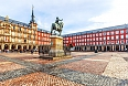 Plaza Mayor with statue of King Philips III in Madrid