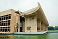 Chandigarh's Palace of Assembly, designed by modernist architect Le Corbusier
