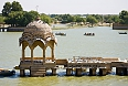 Gadisar lake, is a desert oasis in Jaisalmer, surrounded by many temples and shrines.
