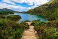 Walking path leading to Lagoa do Fogo