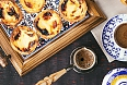 Traditional Portuguese custard tarts